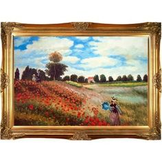 Shop for Claude Monet 'Poppy Field in Argenteuil' Hand Painted Framed Canvas Art. Get free delivery at Overstock.com - Your Online Art Gallery Store! Get 5% in rewards with Club O!