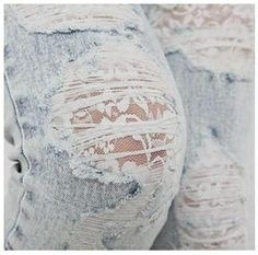 lace jeans...I have the perfect pair of jeans to do this too