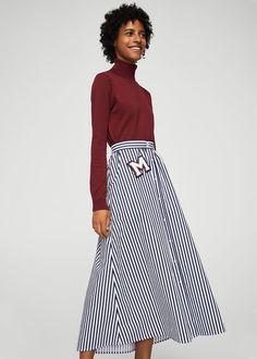 89e73c0e8c Falda rayas parche - Faldas de Mujer