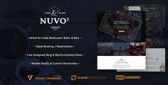 NUVO2 Restaurant WordPress Theme  Modern and sophisticated: these are the two words that best describe NUVO2 which is a WordPress Restaurant Theme specifically built for sites run by restaurant, ca...
