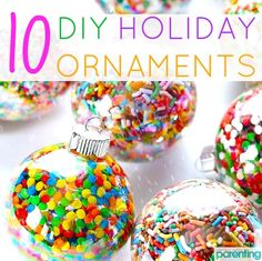 Craft alert! Here are 10 DIY Christmas ornament ideas that the kids can help you make. <3
