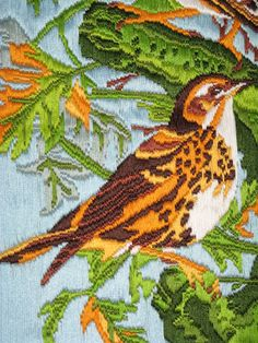 Embroidered birds 2