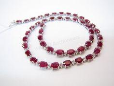 Stunning! 14K white gold, ruby and diamond necklace #rubies #diamonds #wickliffauction