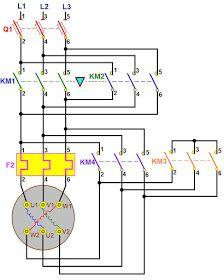 Forward Reverse 3 Phase AC Motor Control Star delta Wiring
