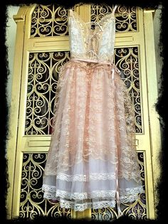 white nude & whisper pink lace tulle ballerina princess dress by mermaid miss k. $130.00, via Etsy.
