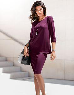 Eine Tunika, die in angesagter Silhouette puristische Eleganz verkörpert.