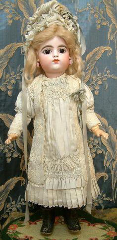 "Kathy Libraty Dolls: 22"" FRANCOIS GAULTIER BEBE Antique French Doll"