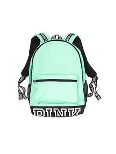vs pink green campus backpack