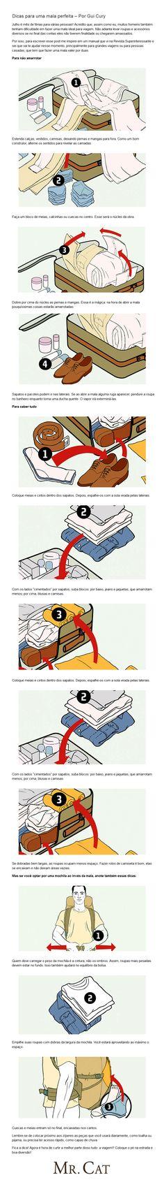 Como arrumar a mala!