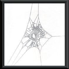 Spider web | Home Wood Sculptures Spider Web Art Knothole Frames Pen & Ink Drawing ...
