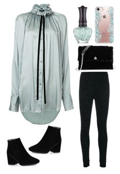 """""""black booties"""" by im-karla-with-a-k ❤ liked on Polyvore featuring Ann Demeulemeester, Fendi, Anna Sui, Lanvin and Casetify"""