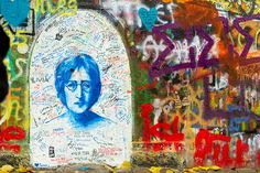 John Lennon Wall ~ Prague, Czech Republic: Today the wall stands as a reminder of free speech and the non violent rebellion of Czech youth in difficult times.
