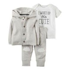 Carters-Newborn-3-6-9-12-Months-Cardigan-Pants-Set-Baby-Boy-Girl-Clothes-Unisex
