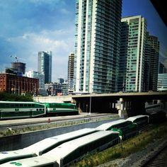 "@einarrice's photo: ""#gotrain #toronto #trains #rail #building #architecture  my view from the train"""