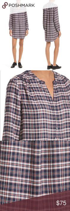 Soft Joie Plaid Shirtdress Tunic Size XS Soft Joie Plaid Shirtdress Tunic Size XS  Long sleeves, New with tags / NWT Soft Joie Dresses