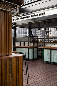 View the full picture gallery of Rooftop Bar & Cinema Rooftop Design, Rooftop Bar, Terrace Design, Cafe Interior Design, Cafe Design, Cinema Architecture, Restaurants, Retro Cafe, Counter Design