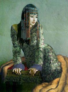 Wedding Morning Mongolian lady Artist Ganbold