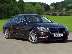 Used 2015 (15 reg) Ruby Black Metallic Mercedes-Benz S Class S350 BlueTEC Limousine AMG Line for sale on RAC Cars