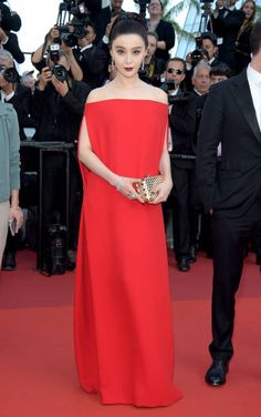 Jury member Fan Bingbing in Valentino Spring 2017 Couture attends the 'The Beguiled' screening during the 70th annual Cannes Film Festival at Palais des Festivals on May 24 2017 in...