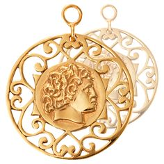 Nikki Lissoni I Rule The World Earring Coins - EAC2054GL http://www.oghamjewellery.com/collections/nikki-lissoni-jewellery