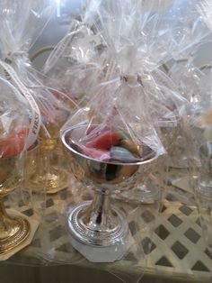 Childrens Pre Filled First Communion Party Bag - Gold or Silver Chalice filled with Sweets Complete your First Communion party with a pre-filled gold