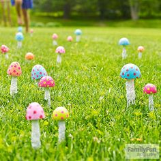 'Shrooms With a View: September is National Mushroom Month! To celebrate, make these fanciful caps you can plant in a garden, flowerpot, or even your lawn.