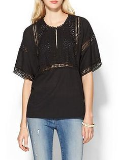 Piperlime Collection Eyelet Bib Top   Piperlime