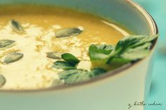 Zupa krem z dyni - gorący kocioł wonnej pyszności :-) #zupa #dynia #kremzdyni