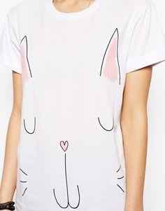 Enlarge ASOS T-Shirt with Cat Print
