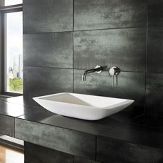clickbasin Modern White Stone Resin Solid Surface Rectangle Bathroom Basin x NOVA Corian Sink Resin Countertops, Countertop Basin, Bathroom Countertops, Bathroom Basin, Small Bathroom, Bathroom Ideas, Cozy Bathroom, Master Bathrooms, Bathroom Vanities