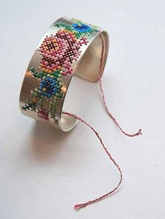Cross Stitch a sweater, chair, pegboard, and how about a bracelet? Check out these great cross stitch ideas that are definitely unique!