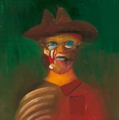 Portrait of Ern Malley by Sidney Nolan (1973). Art Gallery of South Australia, Adelaide. Gift of Sidney and Cynthia Nolan, 1974.