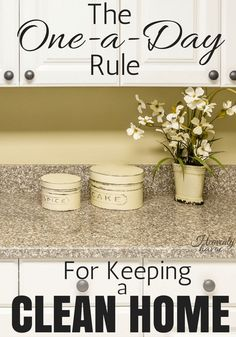 Keeping a clean home with kids underfoot can be tricky! I finally came up with the One-a-Day Rule so my house would stay tiday and I could get on with the rest of my life!