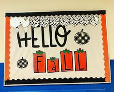 "Kelsey Jenkins on Instagram: ""Even though we are in a winter weather advisory - I'm still going to look at this CUTE bulletin board from @confettiandcreativity and…"" Fall Classroom Decorations, Classroom Ideas, Winter Weather Advisory, Cute Bulletin Boards, High School Classroom, Hello Autumn, That Look, Teacher, Instagram"