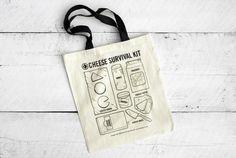 cheese survival kit bag