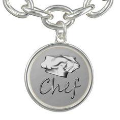 Chef Hat Charm Bracelet