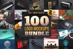 100 Logo Mockups Bundle Vol.2 by pixaroma on @creativemarket