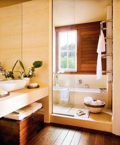 Con ducha y bañera en poco más de 7m2 · ElMueble.com · Cocinas y baños