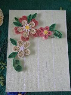 *QUILLING. To put on cards for my mom and personalized cards for the kids to make