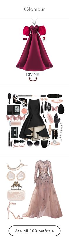 """""""Glamour"""" by me1ody ❤ liked on Polyvore featuring Mark Bumgarner, Harry Winston, Gucci, Halston Heritage, Nina, NYX, L'Oréal Paris, MAC Cosmetics, LORAC and Michael Kors"""