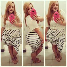 Plus Size Fashion - Charlotte Russe skirt