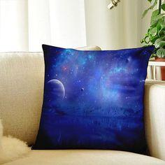 Blue Galaxy Decor Pillow Case Outdoor Decorative Cushion Throw Pillow Cover PillowCase Cover 14x14