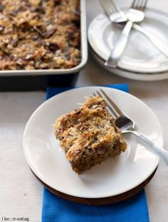 Oatmeal Cake with Broiled Coconut-Brown Sugar Topping - i heart eating