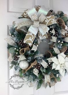 Winter Wreaths for front door, Winter Evergreen Wreath, White Winter Wreath, White Poinsettia Wreath, Winter Wreath, Rustic Winter Wreath, Christmas Wreath Let a rustic winter wreath in beautiful shades of white, greens, and browns add a stylish touch to your front door. This