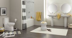 Inspired by simple yet bold lines, the  American Standard Boulevard Collection can fit any bathroom design.