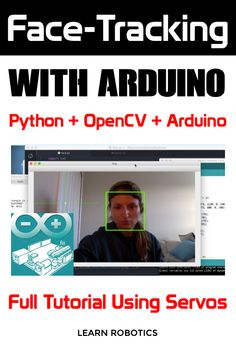 Create a Face Tracking device using Arduino, Python, and OpenCV. Control the device by moving your head. Full tutorial and video on our blog. Build it today!
