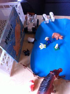 Oef wat warm. Prentenboek PLONS. Uitspelen met de dieren. Dieren weg toveren.