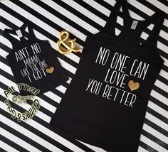 Funny Handmade Matching Mommy and Me Aint No Mama Shirts