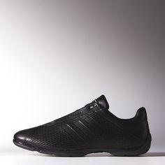 Adidas Mens Leather Shoes Porsche Design Black Drive Pilot Bounce US 8 Black Adidas, Adidas Men, Leather Men, Leather Shoes, Porsche Club, Porsche Design, Driving Shoes, Things That Bounce, All Black Sneakers