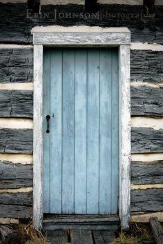 The Blue Door  8x12 Fine Art Photograph wood cabin by eireanneilis, $28.00